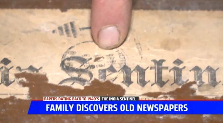 Family Finds 1940s Newspapers During Home Renovation